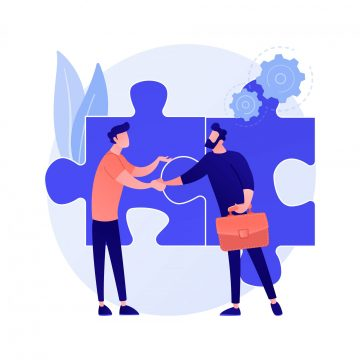 Partnership and collaboration vector concept metaphor