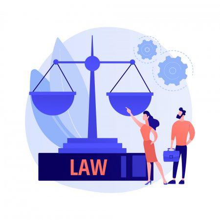 Legal services vector concept metaphor