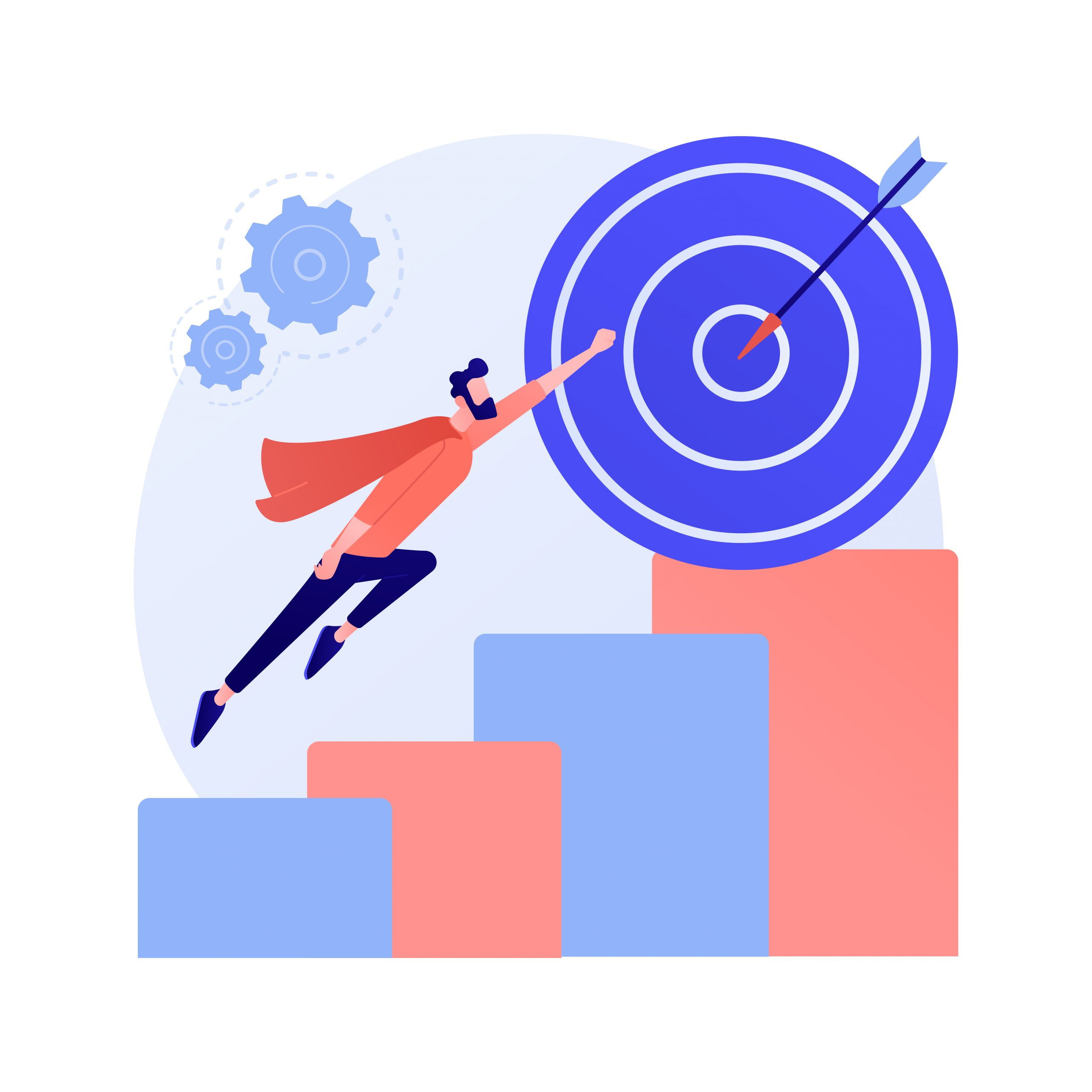 Reaching goal vector concept metaphor
